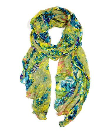 Another great find on #zulily! Green Floral Scarf by East Cloud #zulilyfinds