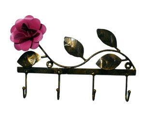 Porta Chaves Floral de Ferro