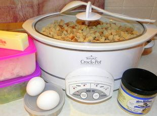 Thanksgiving dressing in the crockpot!: I love this! My crockpot goes unused while everything else is packed to the max! I'm def trying this!