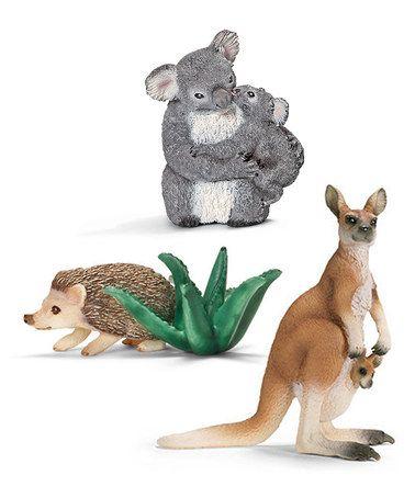 Look what I found on #zulily! Australia Wildlife Figurine Set by Schleich #zulilyfinds