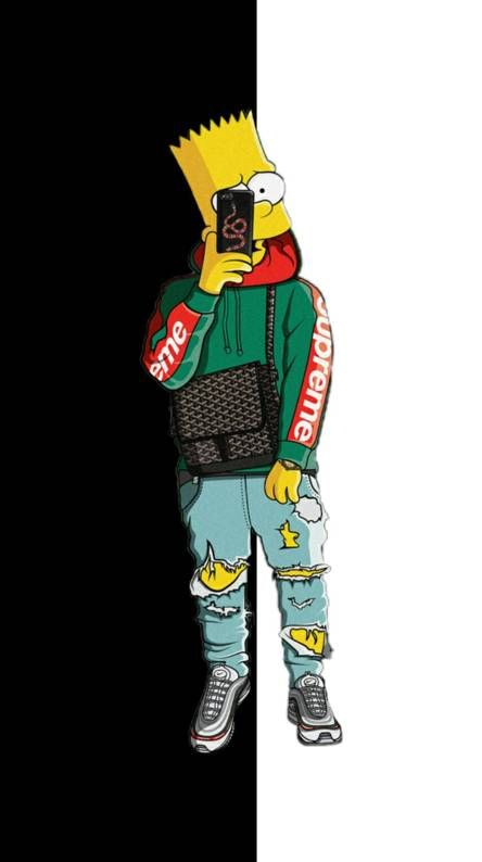 Pin De Jp Em Fondos Papel De Parede Supreme Papel De Parede Da Nike Desenho Dos Simpsons
