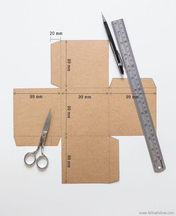 Advent Calendar Diy Template : Diy craft box template for a home made advent calendar i