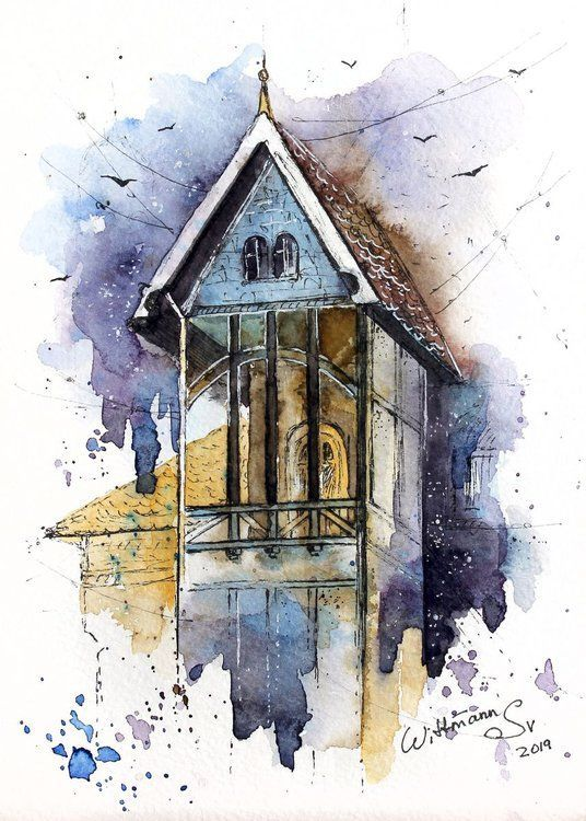 Architecture Watercolor Architecture Watercolor Architektur