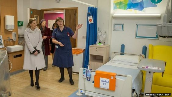 Southampton General Hospital new cardiac unit opened by the countess of wessex