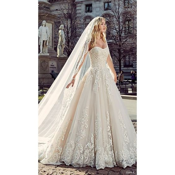Fall In Love With These Fantastic Details Of Bridal Dresses ❤ liked on Polyvore featuring dresses and wedding dresses