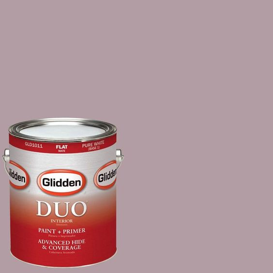 Glidden DUO 1-gal. #HDGR11D Soft Mauve Flat Latex Interior Paint with Primer