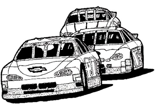 Race tracks Coloring pages and