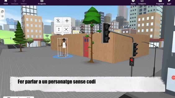 CoSpaces – Diferents maneres de fer parlar als personatges