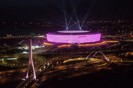 Baku Olympic Stadium Stadium Design Soccer Stadium Stadium