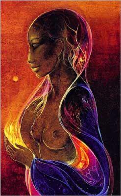 Susan Seddon Boulet - Goddess Mahuea - 1977 ? Mahuea, déesse-mère des Maori (Hawaï, Nouvelle-Zélande), mère de Hina