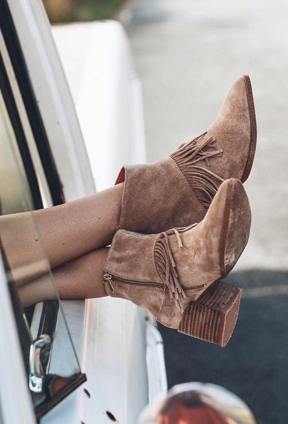 Makito Cassandra Fringe Boots