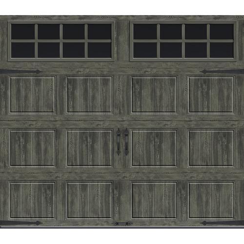 Ideal Door Designer 8 X 7 Oak Slate Insulated Garage Door With