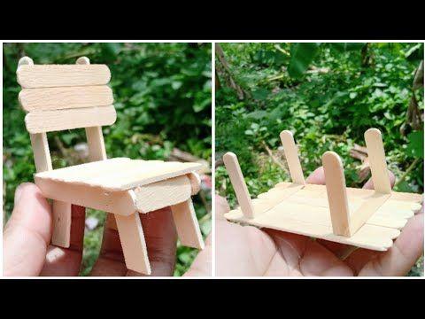21 Ide Kreatif Mini Kursi Dan Meja Dari Stik Es Krim