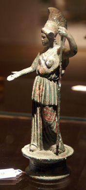 Roman bronze figure of Athena
