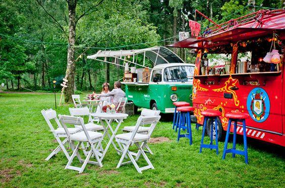 Karretjes op een festival bruiloft | ThePerfectWedding.nl