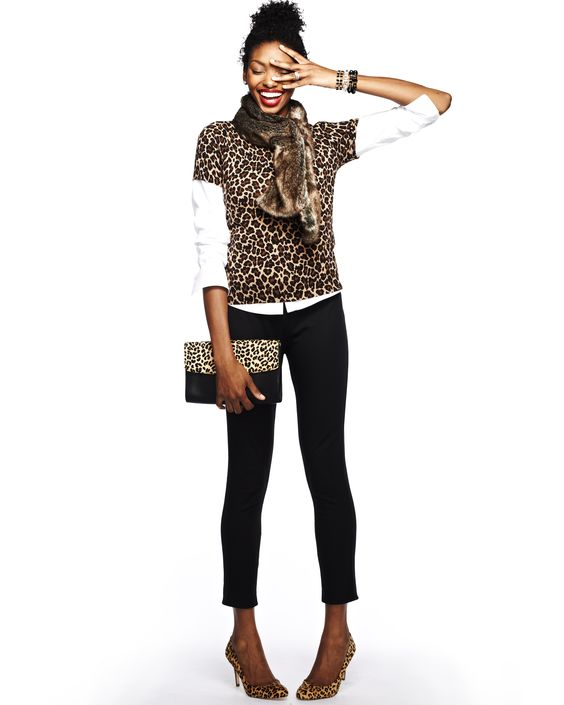 Trend Watch: Animal Prints. Think of them as neutrals - they are black, brown and beige after all. Mix them with black and white for a fierce, not frenzied, look. #Apostrophe #LandsEnd