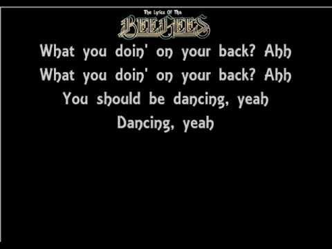 ▶ The Lyrics Of The Bee Gees- You Should Be Dancing - YouTube