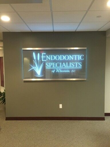 FASTSIGNS of Menomonee Falls installed a edge lit, etched glass piece, with LED light panels, at Endodontics. Check us out at fastsigns.com/452, call us at #262-253-0799, email us at 452@fastsigns.com, or come visit us at W173N9170 St. Francis Drive, Suite 1, Menomonee Falls, WI 53051