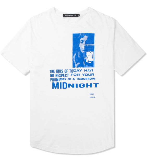 Midnight is an American-based fashion label by designer Shane Gonzales. Founded in 2012, Midnight combines music, art, and youth culture into a classic black and white aesthetic.100% cotton crewneck t...