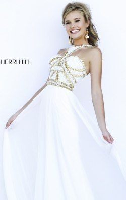 Beaded Halter Neck Gown by Sherri Hill 9739