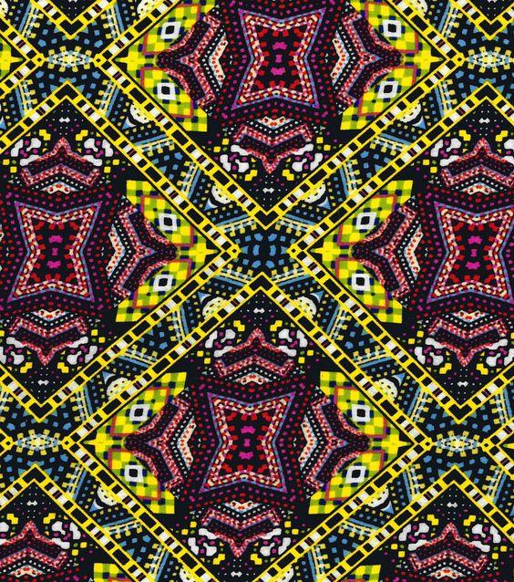 Basan Fashion Apparel Fabric-Rayon Nylon Fabric Patch Multi