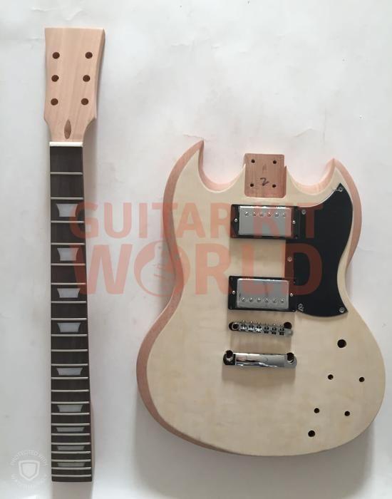 Sg Guitar Kit With Quilted Maple Veneer And Chrome Hardware Guitar Kit Worldamerican Expressapple Paymastercardpaypalvisa Guitar Kits Guitar Sg Guitar