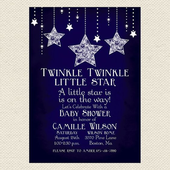 Twinkle Twinkle Little Star Baby Shower Invitations for great invitation design