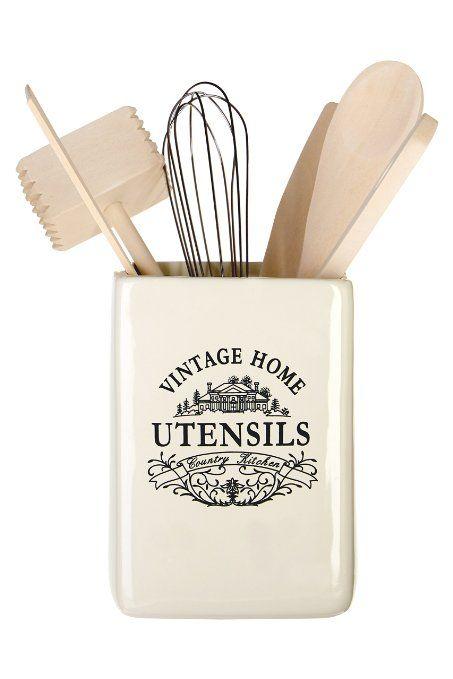 Premier Housewares Barattolo con utensili Vintage