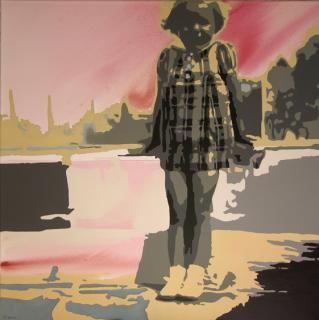 """Corinne de Battista - """"Ca fera une belle photo"""" - acrylique sur toile"""