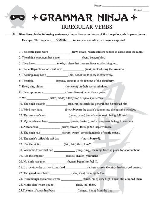 Pre Grade Grammar Worksheets 6th Grade Worksheets Third Grade Grammar Worksheets Grammar Worksheets