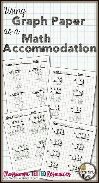 Using Graph Paper as a Math Accommodation Graph paper, Math and - math graph paper