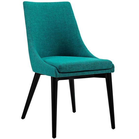 Modway Viscount Teal Fabric Dining Chair Blue Fabric Dining Chairs Dining Chairs Upholstered Dining Chairs