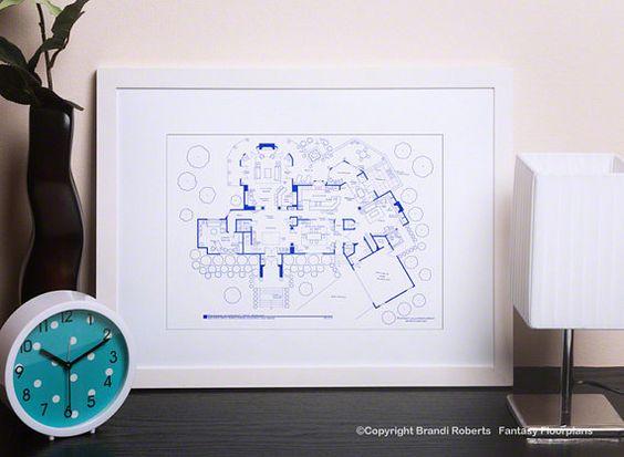 Blueprints for homes Tony soprano and TV