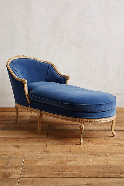 Chaise lounges blue velvet and lounges on pinterest for Blue velvet chaise