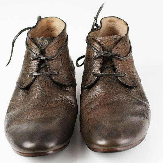 Vintage Oxford Dress Shoes for Men in Vegetable Tanned Leather ...