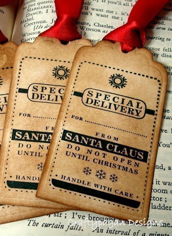 Christmas tags from Santa: