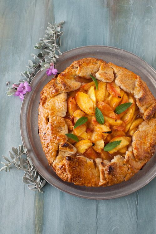 Sweet and Tangy Peach Crostata with Cardamom at Cooking Melangery