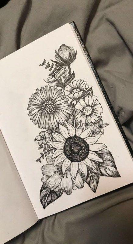 38 Ideas For Tattoo Thigh Sunflowers Tat Ideas Sunflowertattoosshoulder Sunflowers Tat Tattoo Thigh Tattoos Flower Tattoo Drawings Hip Tattoo
