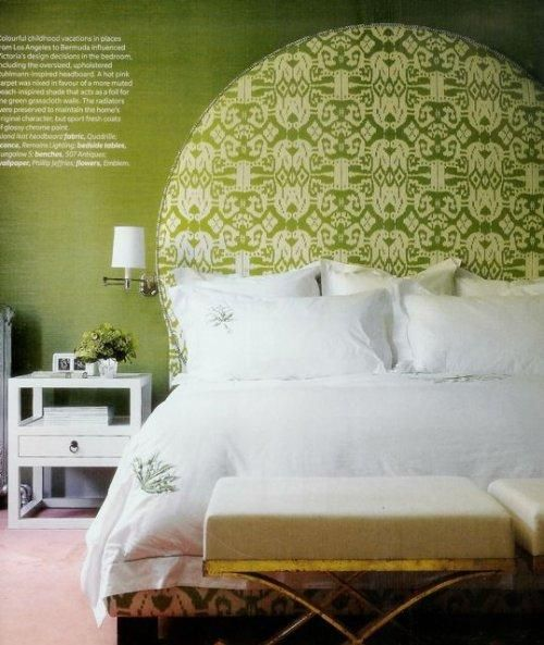 This is a similar green to what I chose for my guest room