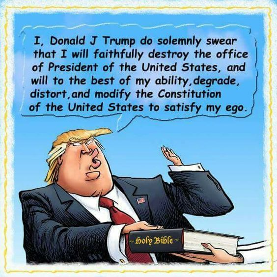 """The Beginning of our End: Trump """"Swears an Oath""""??"""