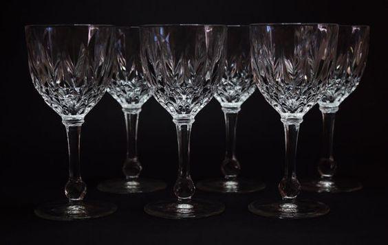 Set of 6 vintage crystal port glasses by VintageThingsAu on Etsy