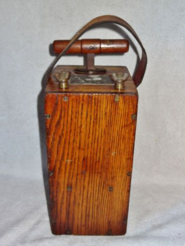 Rare antique atlas blasting machine no 3 50 wood plunger for Demolition wood for sale