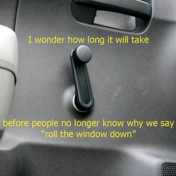 once upon a time there were no power windows