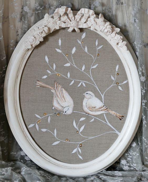 Shabby shabby chic and baies on pinterest - Peinture lin naturel ...