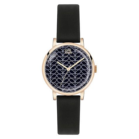 Buy Orla Kiely Women's Stem Print Dial Leather Strap Watch Online at johnlewis.com
