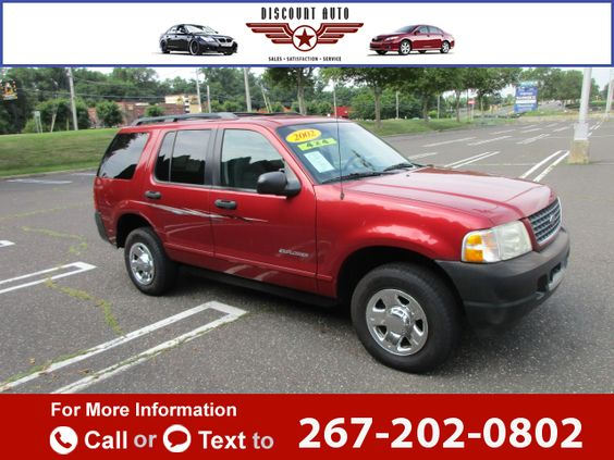 2002 *Ford*  *Explorer*   125k miles $3,399 125643 miles 267-202-0802 Transmission: Automatic  #Ford #Explorer #used #cars #DiscountAuto #Langhorne #PA #tapcars