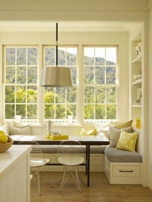 Eckbank bietet Ihnen mehr Sitzfläche und sieht dabei stilvoll aus - eckbank kleine küche