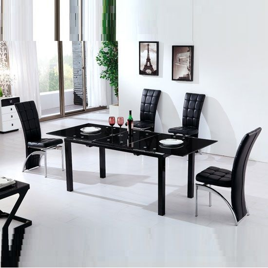 Contemporary Styled Florence Extending Glass #diningtable Comes Delectable Extendable Glass Dining Room Table Design Ideas