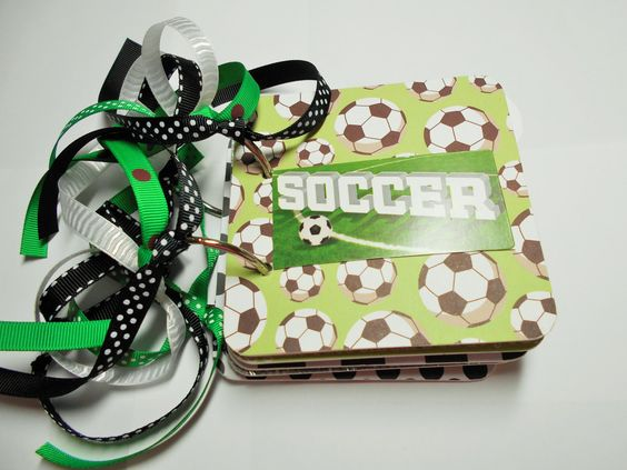 Soccer Mini Album, Soccer Scrapbook, Soccer Brag Book, Soccer Photo Album, Premade Album, chipboard Album, 4x4, Soccer Memory Book, Soccer by HampshireRose on Etsy