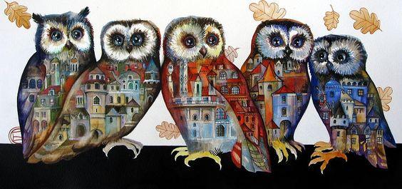 """""""Owls"""" par Oxana Zaika"""